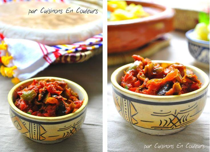 Tektouka (Dip de poivrons à la marocaine) - Cuisinons En Couleurs