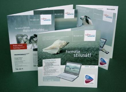 Advertising design for Fujitsu Siemens.