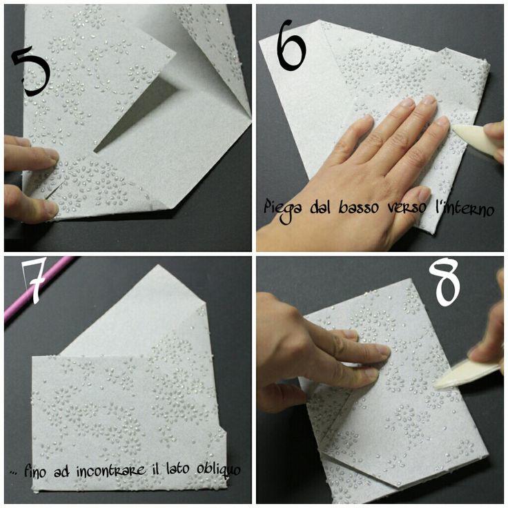 Tutorial creazione buste per partecipazioni con foglio A 4 http://www.zankyou.it/p/tutorial-per-partecipazioni-di-nozze-in-origami-fai-da-te-e-bello-40362