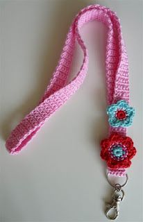 cute crocheted lanyard - TeenyWeenyDesign