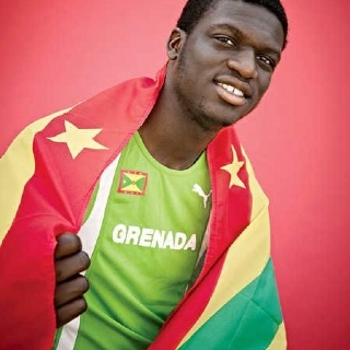 Kirani James - 400M World Champion.  Going for Gold in the London Olympics