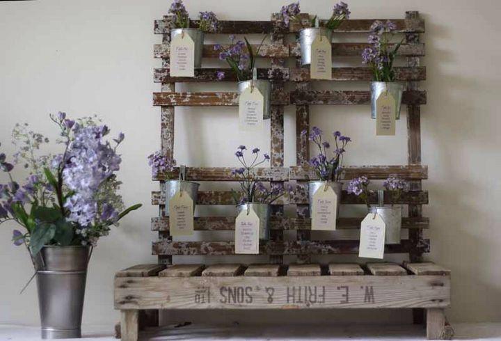 Plan de table fleurs violettes parmes lavandes lilas nature vintage romantiqu - Deco table exterieur ...