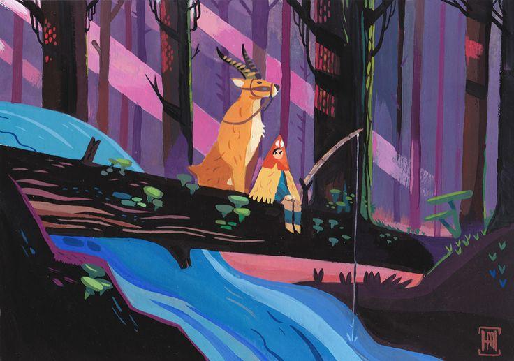 Ghibli Tribute painting on Behance