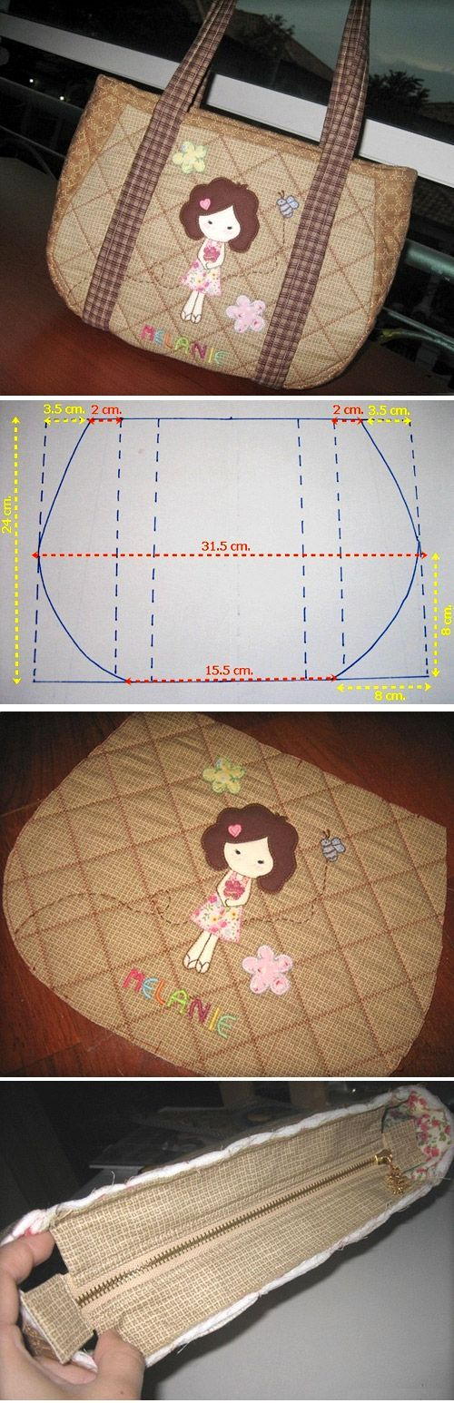 How to sew a bag quilting. Step by step photo tutorial and template. http://www.handmadiya.com/2015/11/quilted-tote-bag-tutorial.html: