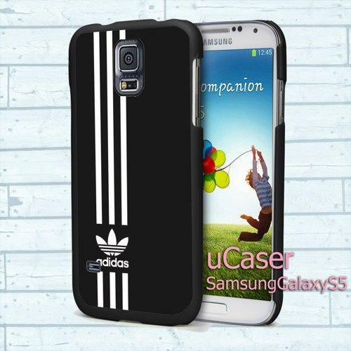 "Adidas Stripe Black For Samsung Galaxy S5 5.1"" screen Black Case"