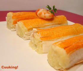Cuuking!: Rollitos de surimi con ensaladilla de gambas