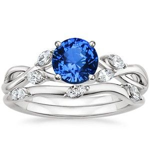 18K White Gold Sapphire Willow Matched Set (1/4 ct. tw.)