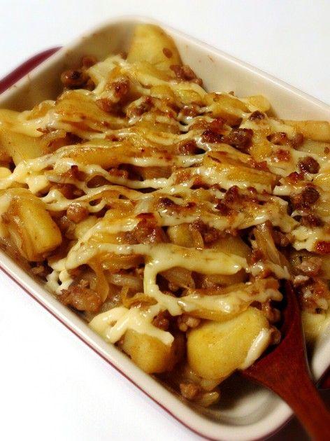 豚ひき肉とじゃがいものマヨネーズ焼き by 水菜ママ [クックパッド] 簡単おいしいみんなのレシピが225万品