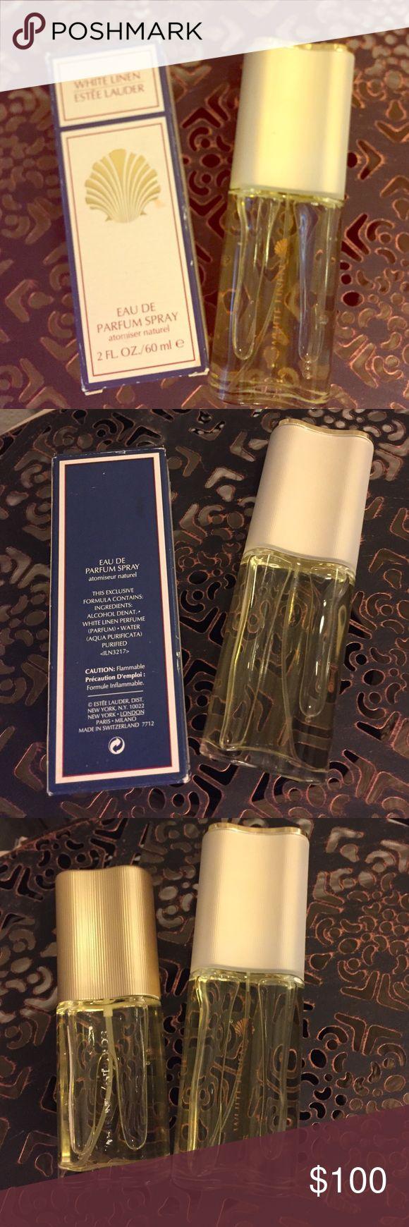 Estée Lauder White Linen Never been used - 2fl oz and 3fl oz bottles of Estée Lauder White Linen Eau de Parfum - price is for the 2 of them 🚫no trades🚫 Estee Lauder Makeup