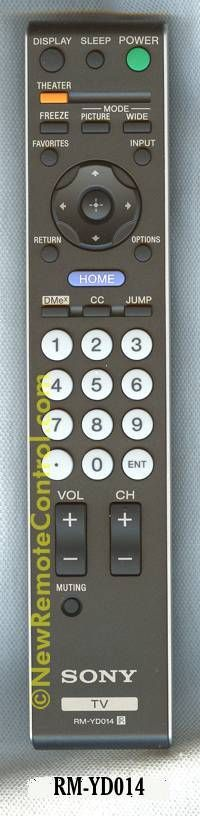 NEW SONY LCD TV REMOTE CONTROL 148016611 RM-YD014