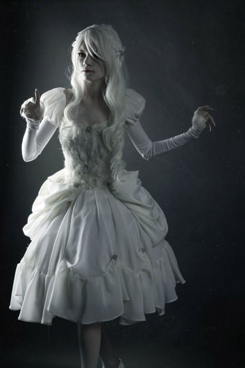 White dresses are awesome though often not taken as an option for larp.