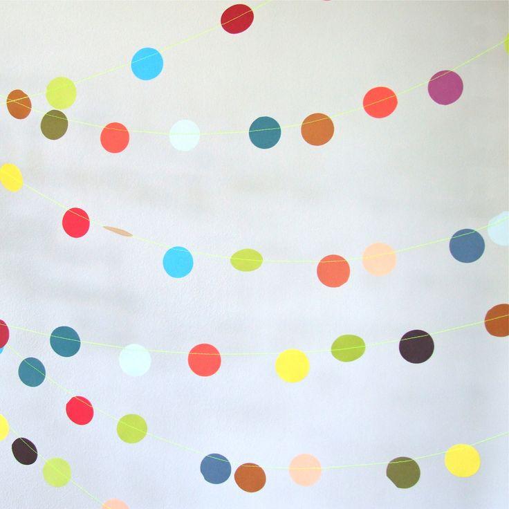 paper garland - party decoration - multi coloured tutti frutti garland
