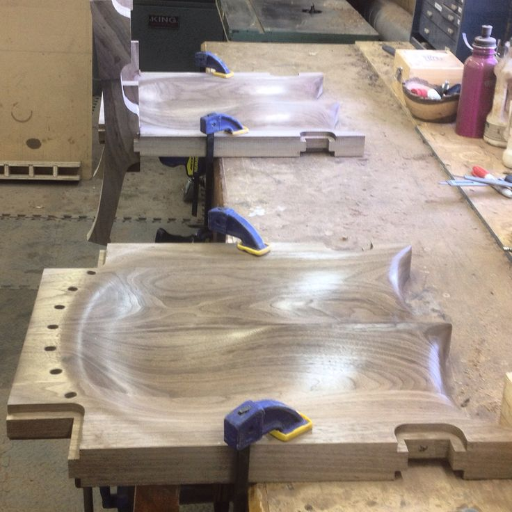 Build your own chair course - The seats are sanded to a shine now we fit