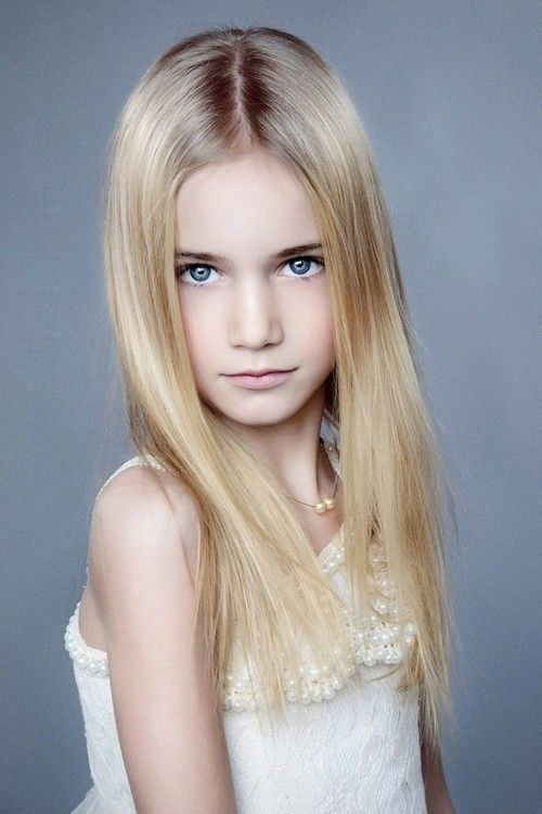 Beautiful very young little girl models