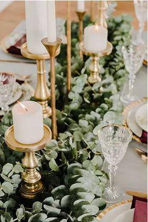 Cascade of tiered candlesticks