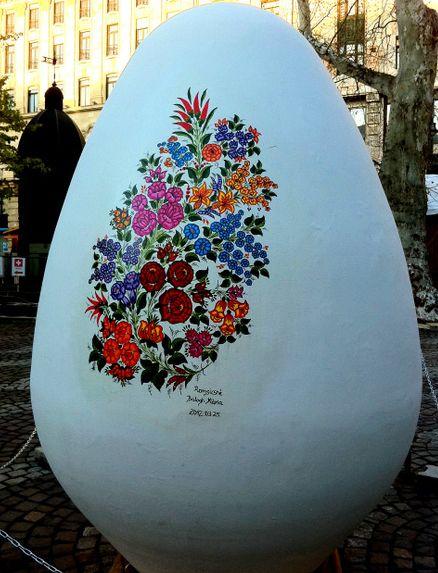 Easter Egg Giant Kalocsa Style Hungary
