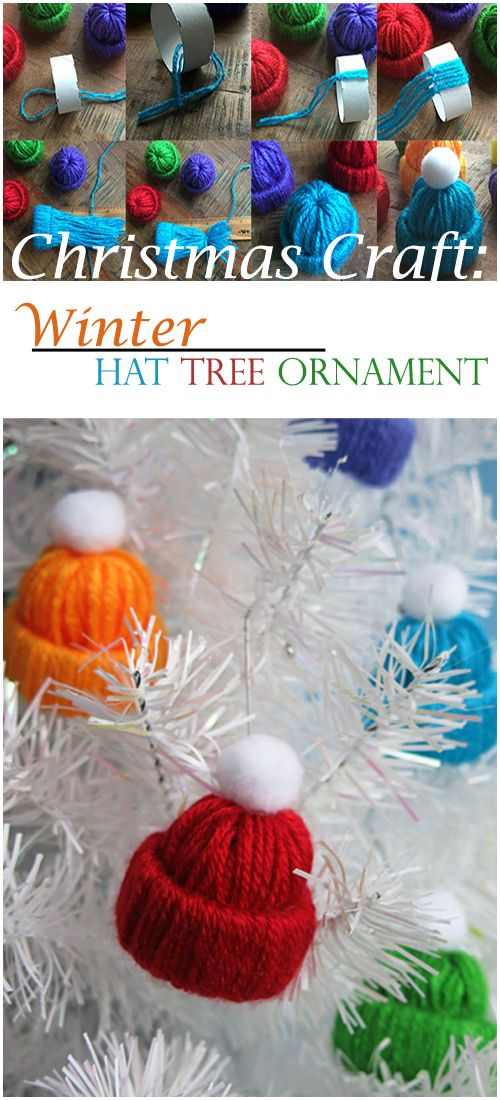 CHRISTMAS CRAFT: WINTER HAT TREE ORNAMENT