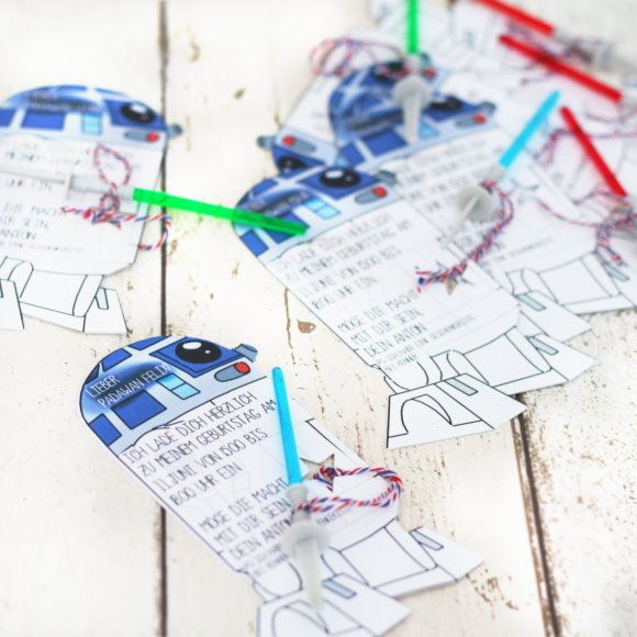 Kindergeburtstag: Einladungen Für Star Wars Party Basteln