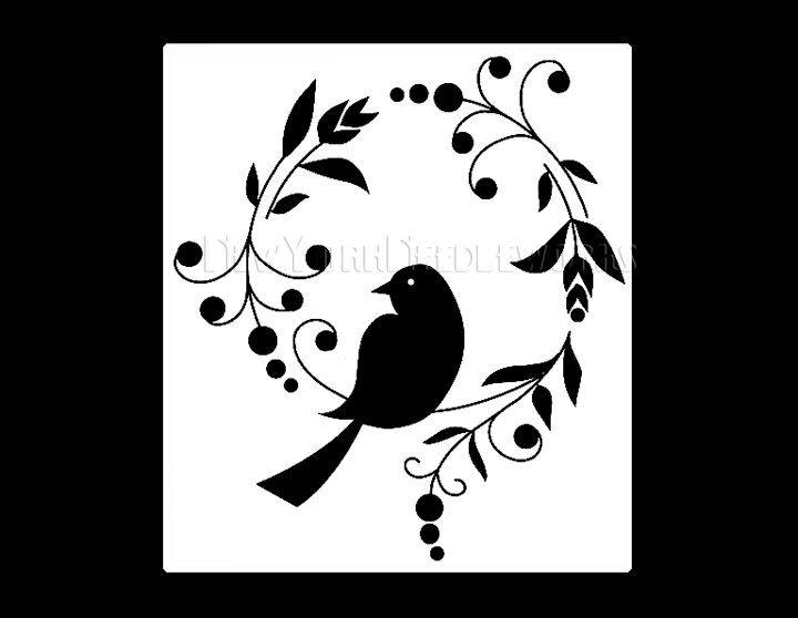 beautiful bird silhouette