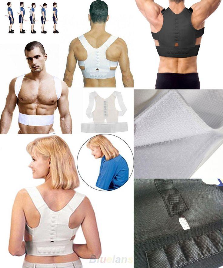 [Visit to Buy] Magnetic Posture Corrector Braces&Support Body Back Pain Belt Brace Shoulder For Men Women Care Health Adjustable Posture Band #Advertisement