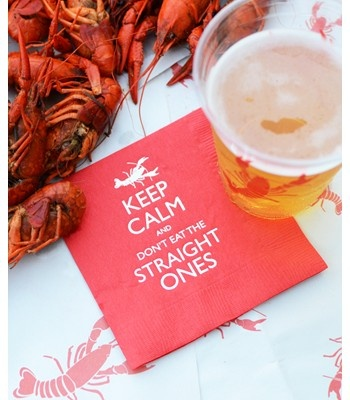 Remember: if you're enjoying a crawfish boil the crawfish with a straight tail (vs. curled in) were dead before they were cooked (not good, not fresh)