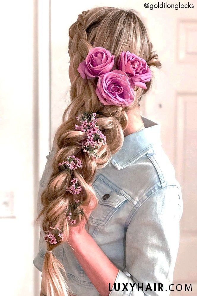 6 Different Ways To Use Hair Extensions Rapunzel Hair Rapunzel Braid Hair Extensions