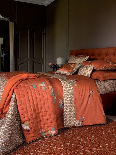 Aw2013 design kacho ga bedlinen in printed sateen 300 threads inch2 flat bias finishing - Kenzo maison pour yves delorme ...