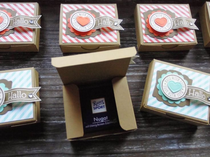 Kreativ am Deich : ...kleine Schoki-Box ...