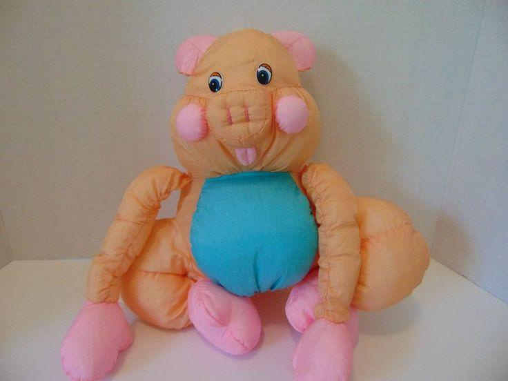 Nylon Pig Plush Parachute like material Tb Trading Co Piggy Orange Prissy Piglet #TBTrading