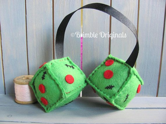 Zombie Felt Dice Retro Gifts Gifts for Men Gifts for Boys