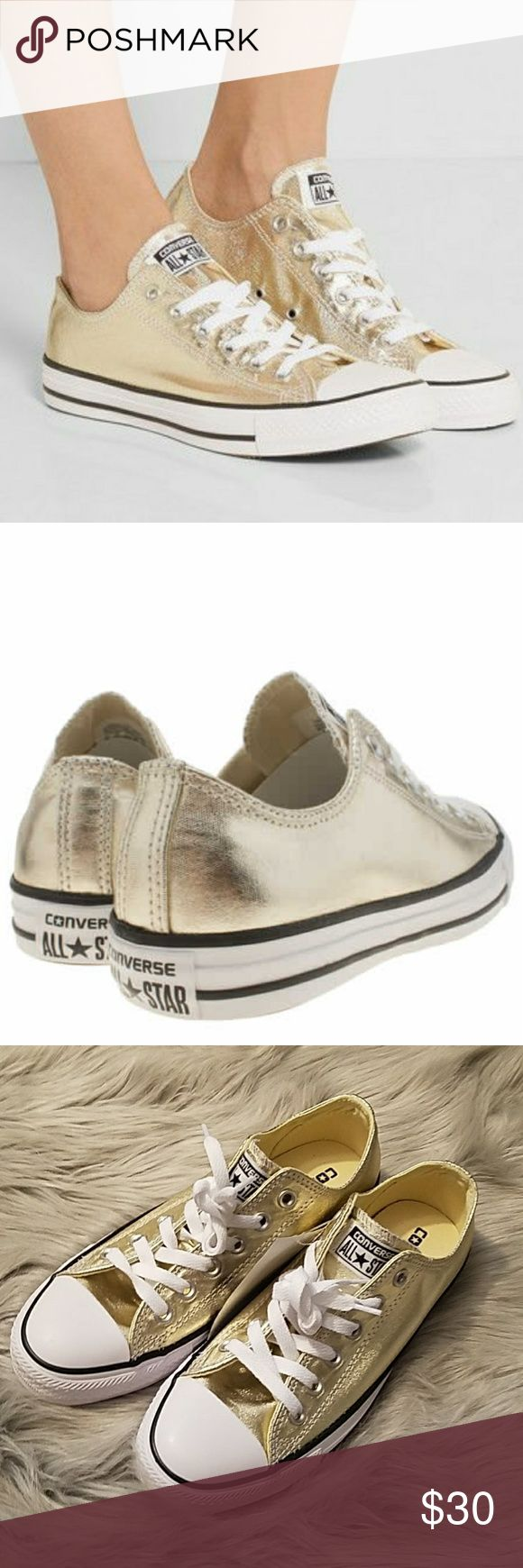 Converse Chuck Taylor All-Star Gold Sneakers New without box. Unisex style. Women's size 8, men's size 6. Converse Shoes