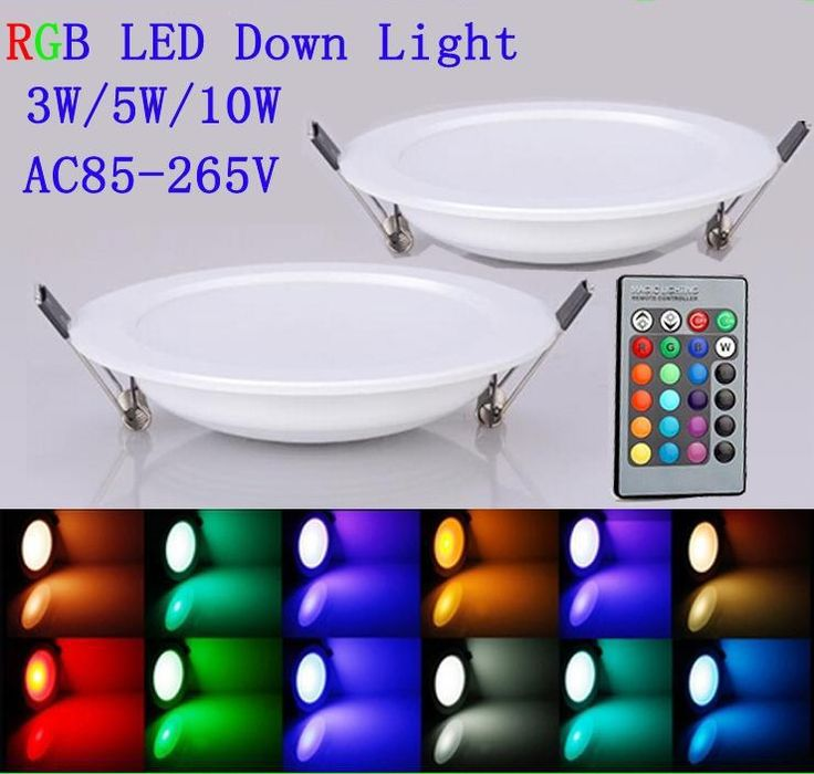 2015 LED Panel Light 3W 5W 10W RGB LED Ceiling Lamp AC85-265V Downlight Bulb Lamp Flat Light with 24 Key Remote Control Led Lights Online with $14.09/Piece on Ok360's Store | DHgate.com