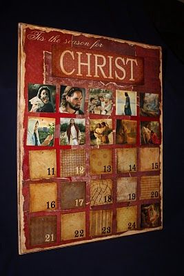 Christmas Advent. Love this!