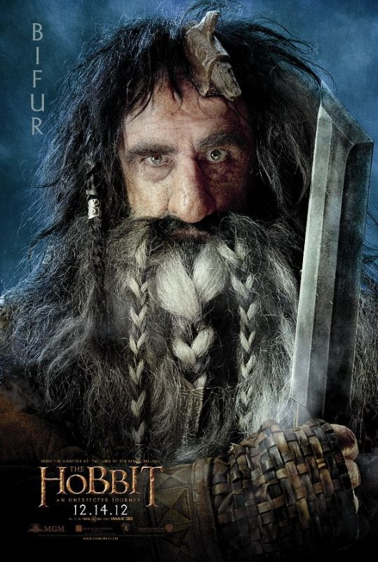 Bifur - character poster from The Hobbit. How many yaks are going naked for THAT beard?