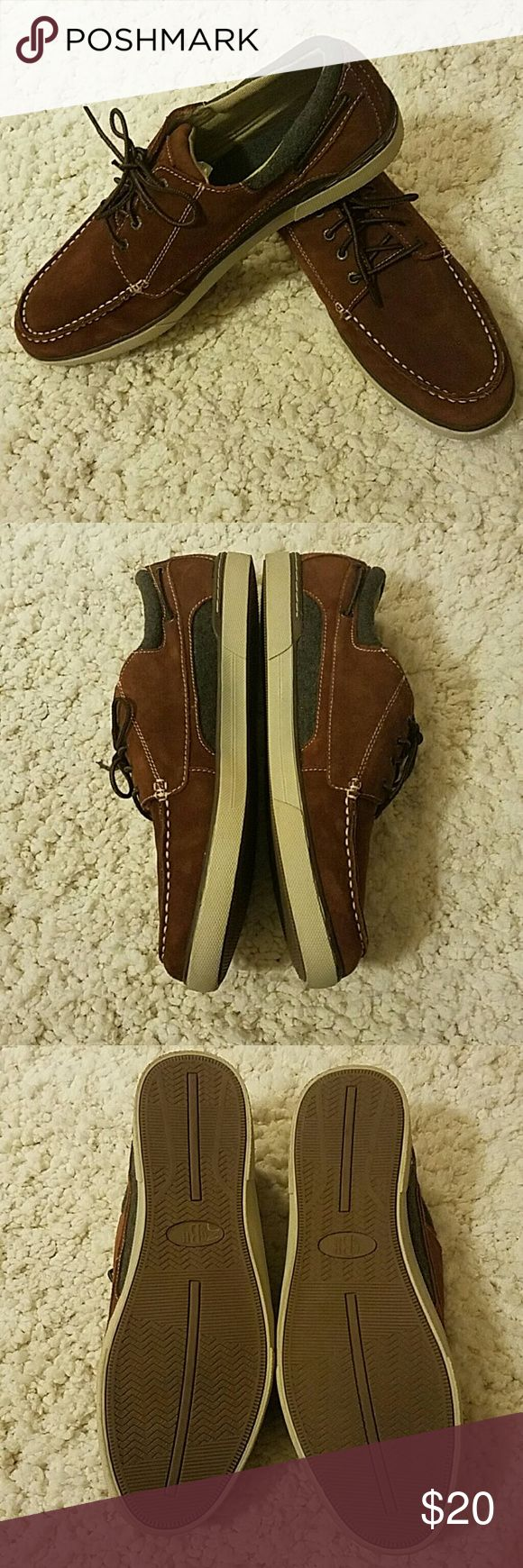 """G.H. BASS MENS BOAT SHOE These GH. Bass """"Oliver"""" boat shoes are NWOT.  BROWN WITH GRAY ACCENTS SIZE 13M NO BOX GH bass & Company Shoes Boat Shoes"""