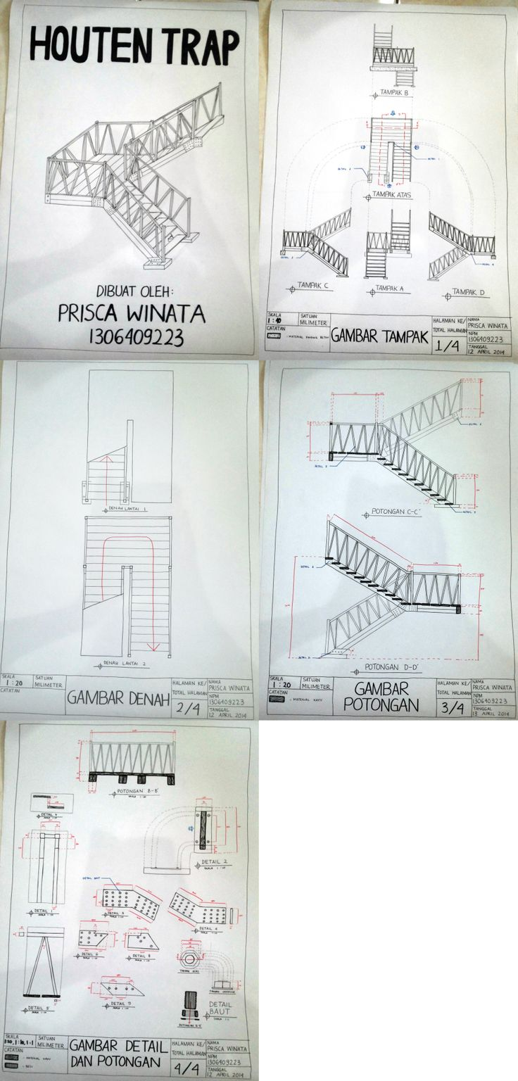 Gambar Ortografis Tangga