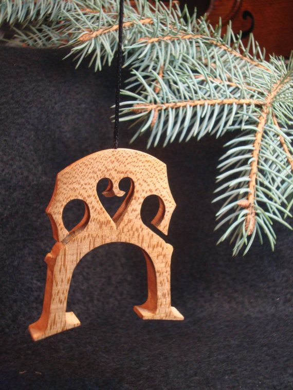 Violin Cello Bridge Ornament Miniature