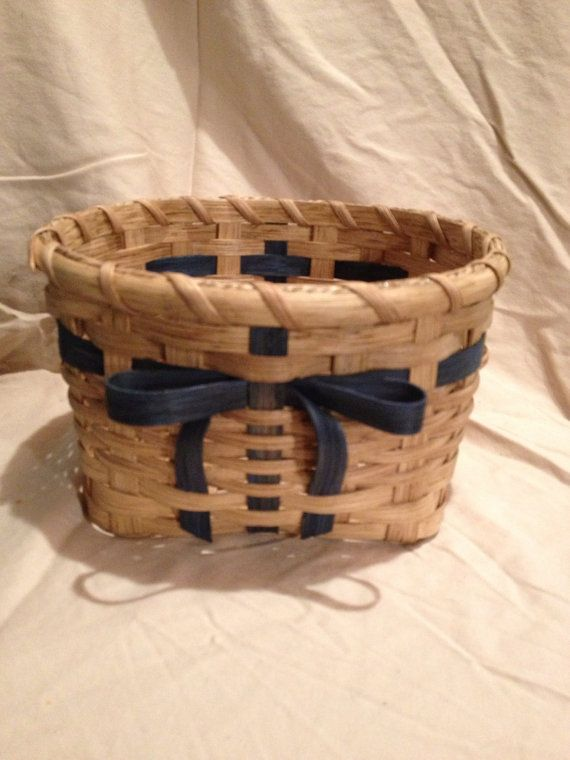 Muffin Basket with a bow by BasketWeavingSupplie on Etsy, $15.00