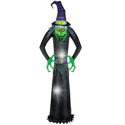 Gemmy 58614 Giant Airblown Wicked Witch Halloween Inflatable, Multicolored