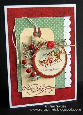 Christmas scrapbook layout embellishment inspiration tags