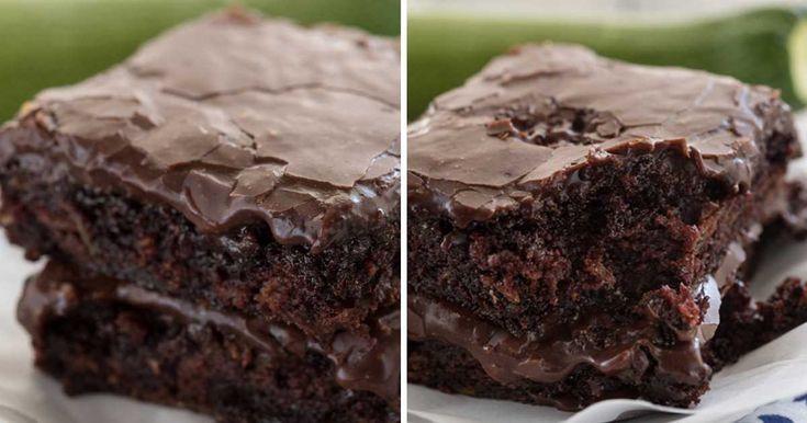 Extra vlhké cuketové brownies