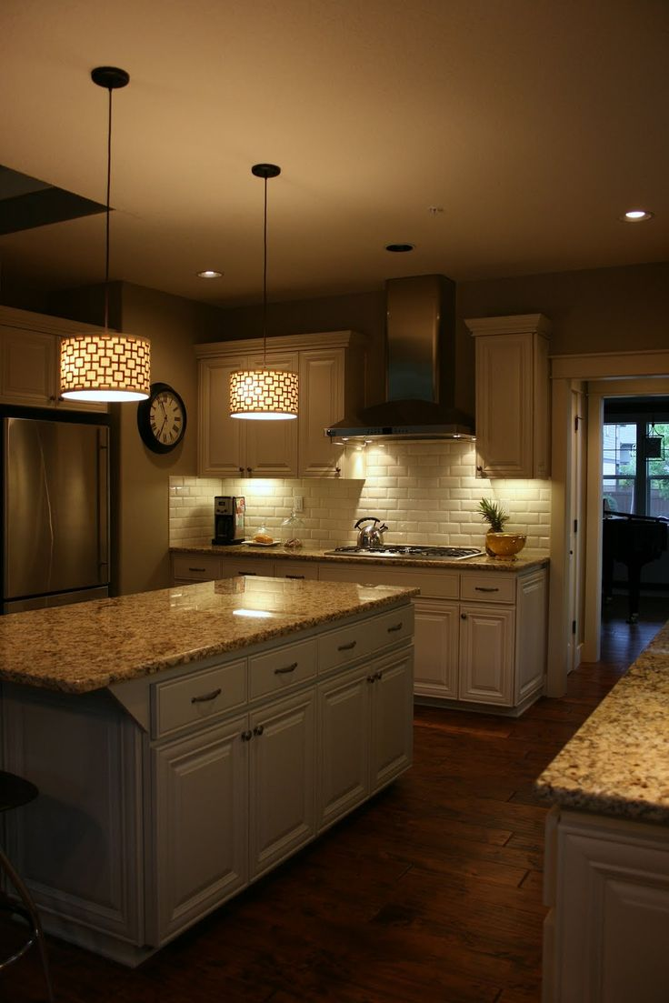 Kitchen island drum pendants - Kitchen Drum Light White Wood Kitchen Cabinet And Drum White Pendant Light