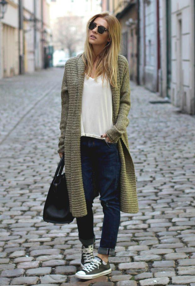 Длинный кардиган (104 фото): женские модели, с чем носить