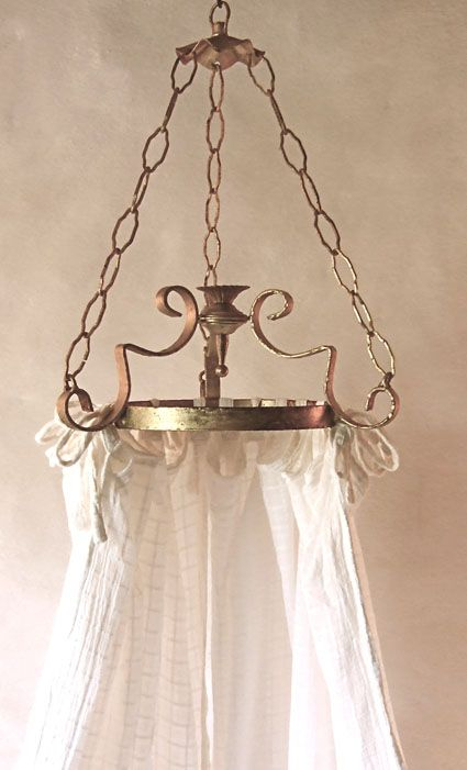 Gorgeous antique french ciel de lit bed canopy corona. ❤•❦•:*´`*:•❦•❤