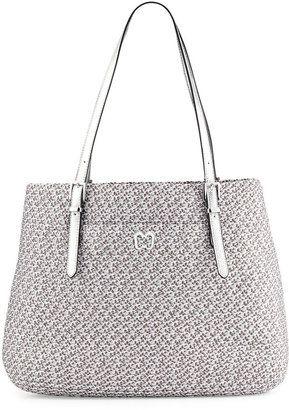 Eric Javits Squishee Jav II Metallic Tote Bag, Silver #1010ParkPlace