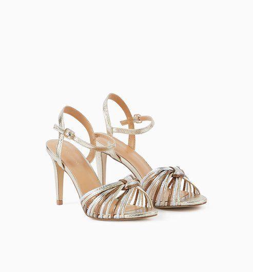 3f376a5f86fef8 High-heeled sandals - Gold - Women - Shoes - Promod