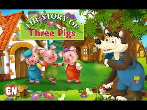 Three pigs - Fairy Tale based on Grimm Brothers story