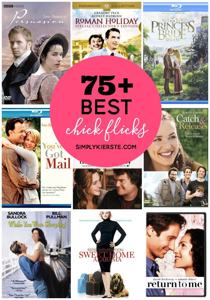 Ready for a girls' night in? Check out this list of 75+ of the best chick flicks around! There's something for everyone...
