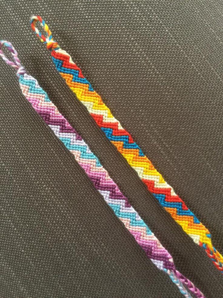 bracelets summer Artículos similares a Pulsera brasileña zig zag/ brazalete de amistad en zig zag en Etsy Knit Bracelet, Thread Bracelets, Diy Bracelets Easy, Friend Bracelets, Summer Bracelets, Bracelet Crafts, Diy Bracelet Designs, Diy Friendship Bracelets Patterns, Bijoux Diy