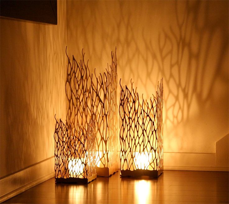 laser cut candle holder
